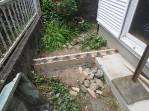 化粧ブロックのテラス土間基礎1