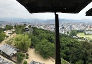 松江城から、街の景色