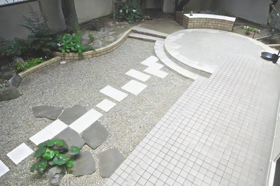 既存の素材を生かしたお庭の施工事例